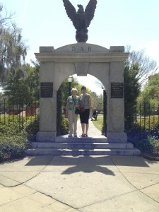 Mom and Lois at Colonial Cemetery